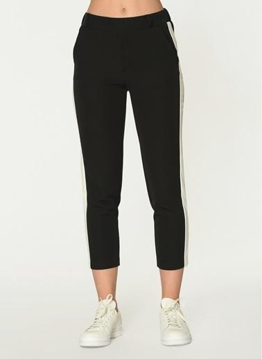 Loves You Şeritli Jogger Beli Lastikli Bilekte Pantolon Siyah